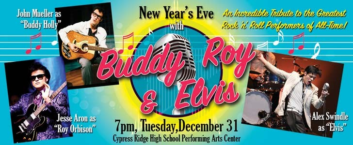 Spend NYE with Buddy, Roy & Elvis
